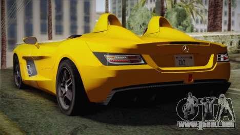 Mercedes-Benz SLR McLaren Stirling Moss para GTA San Andreas left