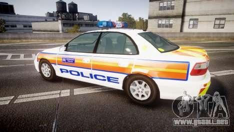 Vauxhall Omega Metropolitan Police [ELS] para GTA 4 left