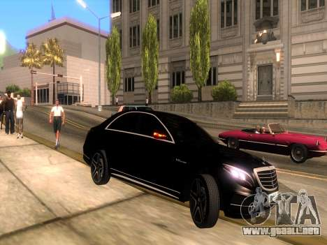 Mercedes-Benz Long S65 W222  Black loaf para la visión correcta GTA San Andreas