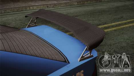 GTA 5 Karin Sultan IVF para GTA San Andreas vista hacia atrás