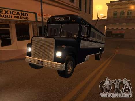 Autobús из GTA 3 para visión interna GTA San Andreas