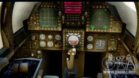 F-15J Mitsubishi Heavy Industries para GTA San Andreas vista hacia atrás
