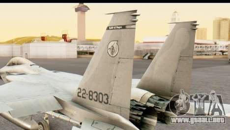 F-15DJ Mitsubishi Heavy Industries para GTA San Andreas vista posterior izquierda