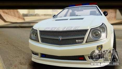EFLC TBoGT Albany Police Stinger para GTA San Andreas vista posterior izquierda