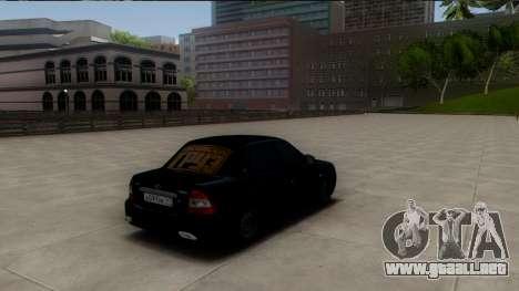 VAZ 2170 Caspio Carga para GTA San Andreas vista posterior izquierda
