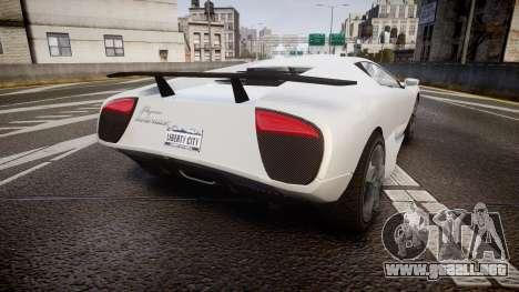 Pegassi Infernus para GTA 4 Vista posterior izquierda