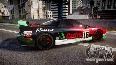 Honda NSX 1998 [EPM] castrol para GTA 4 left