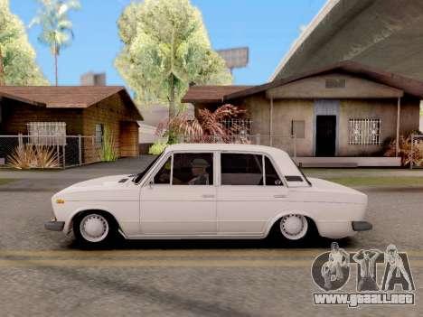 VAZ 2106 Clásico para GTA San Andreas vista posterior izquierda