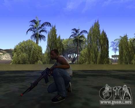 M4A1 Cross Fire para GTA San Andreas tercera pantalla