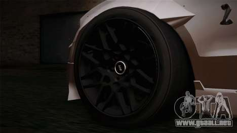 Ford Shelby GT500 RocketBunny SVT Wheels para GTA San Andreas vista posterior izquierda