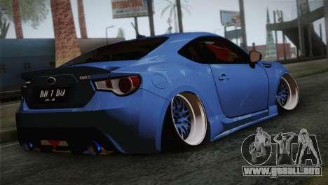 Subaru BRZ para GTA San Andreas left