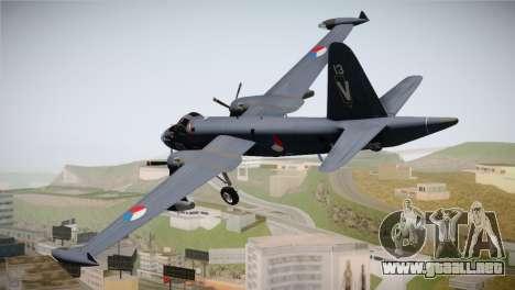 Lockheed P2V-7 Neptune MLD para GTA San Andreas left