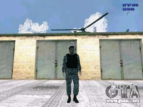 El OMON de combate para GTA San Andreas segunda pantalla