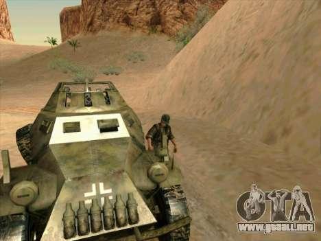 SdKfz.222 para vista lateral GTA San Andreas