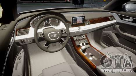 Audi A8 L 4.2 FSI quattro para GTA 4 vista interior