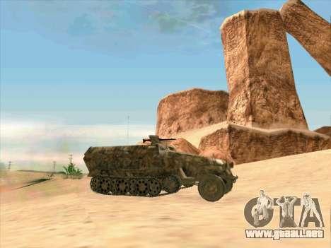 Sd Kfz 251 Camuflaje Desert para GTA San Andreas left