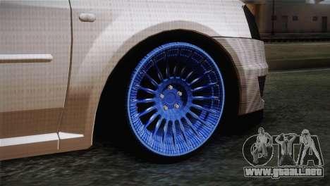 Dacia Logan Most Wanted Edition v3 para GTA San Andreas vista posterior izquierda