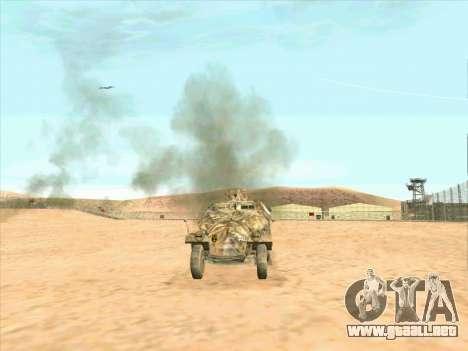 Sd Kfz 251 Camuflaje Desert para GTA San Andreas vista posterior izquierda