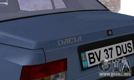 Dacia Super Nova para vista inferior GTA San Andreas
