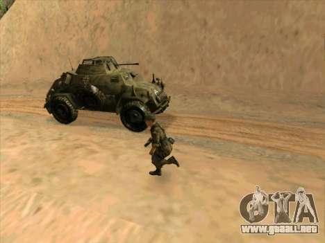 SdKfz.222 para visión interna GTA San Andreas
