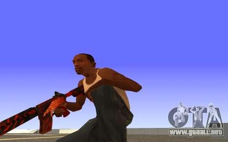 M4A4 Вой CS:GO para GTA San Andreas tercera pantalla