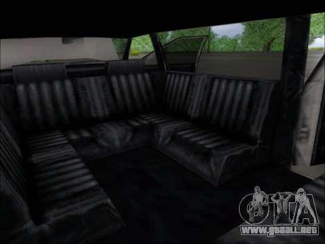 Elegant Limousine para GTA San Andreas vista hacia atrás