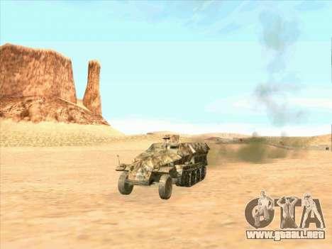 Sd Kfz 251 Camuflaje Desert para la visión correcta GTA San Andreas