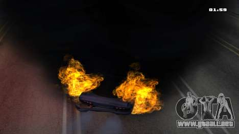 Burning Car para GTA San Andreas quinta pantalla