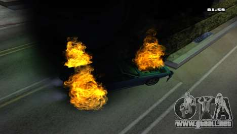 Burning Car para GTA San Andreas sexta pantalla