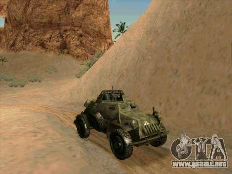 SdKfz.222 para GTA San Andreas vista posterior izquierda