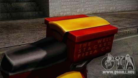 Original Pizzaboy IVF para GTA San Andreas vista hacia atrás