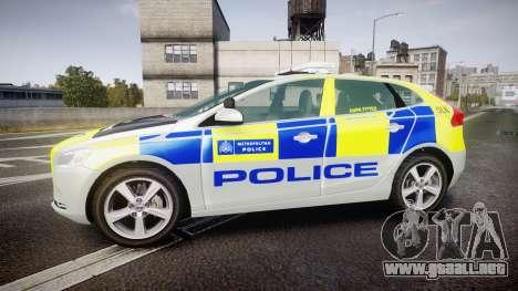 Volvo V40 Metropolitan Police [ELS] para GTA 4 left
