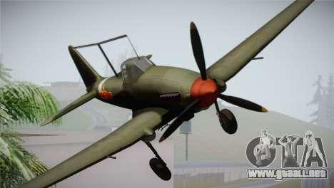 ИЛ-10 de la Fuerza Aérea China para GTA San Andreas vista hacia atrás