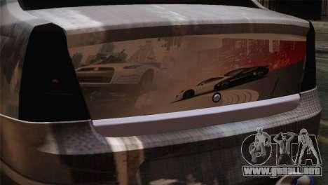 Dacia Logan Most Wanted Edition v3 para GTA San Andreas vista hacia atrás