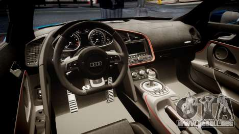 Audi R8 Spyder 2014 [EPM] para GTA 4 vista interior