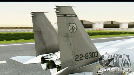 F-15J Mitsubishi Heavy Industries para GTA San Andreas vista posterior izquierda