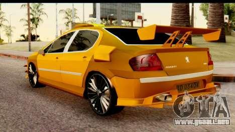 Peugeot 407 Sport Taxi para GTA San Andreas left