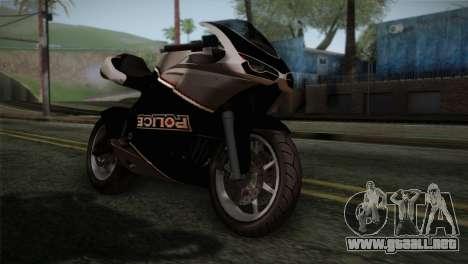 GTA 5 Bati Police para GTA San Andreas vista hacia atrás