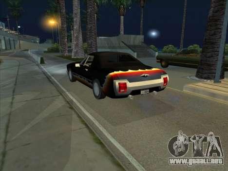 Diablo Stallion из GTA 3 para GTA San Andreas vista posterior izquierda