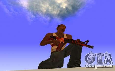 M4A4 Вой CS:GO para GTA San Andreas segunda pantalla