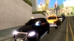 Mercedes-Benz Long S65 W222  Black loaf