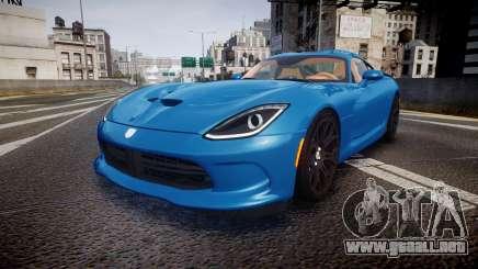 Dodge Viper SRT 2013 rims2 para GTA 4