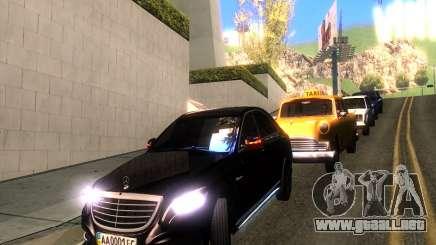 Mercedes-Benz Long S65 W222  Black loaf para GTA San Andreas