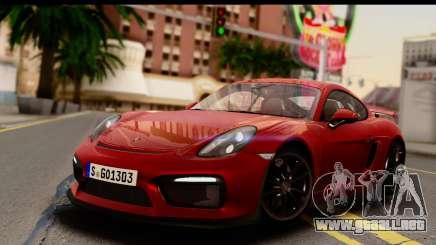 Porsche Cayman GT4 981c 2016 EU Plate para GTA San Andreas