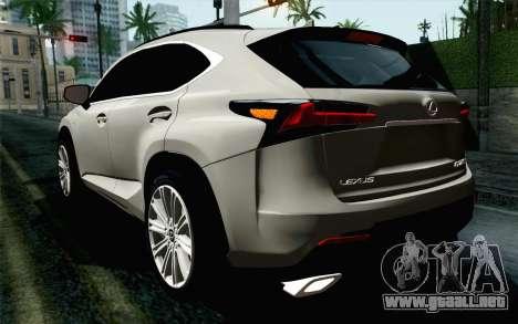 Lexus NX 200T v5 para GTA San Andreas left
