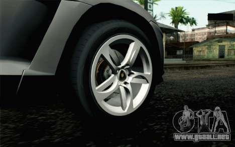 Lamborghini Urus Concept para GTA San Andreas vista posterior izquierda