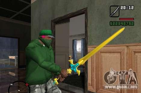 Espada Sagrada Excalibur para GTA San Andreas