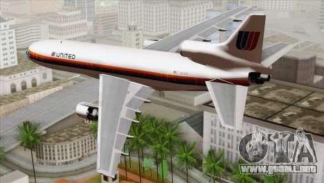 Lookheed L-1011 United Als para GTA San Andreas left