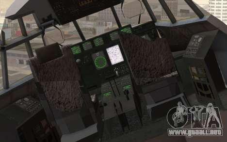 C-130H Hercules RAF para GTA San Andreas vista hacia atrás
