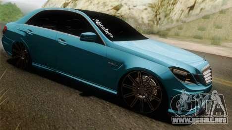 Mercedes-Benz E63 AMG 2010 Vossen wheels para visión interna GTA San Andreas